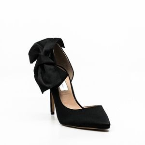 INC Kalea Bow Pumps Black Satin